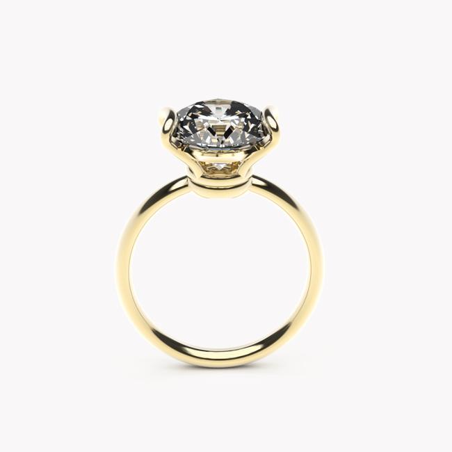 Pierścionek Ayo – żółte złoto 585 / topaz