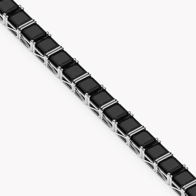 Tennis Bracelet – white gold 585 / onyx