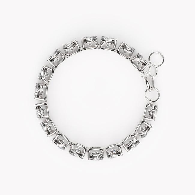 Tennis Bracelet – white gold 585 / topaz