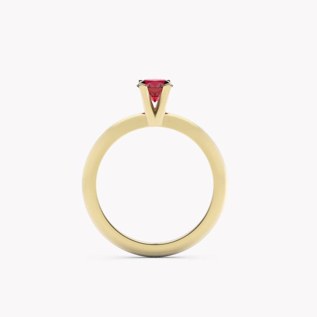 Pierścionek Sioni – żółte złoto 585 / rubin