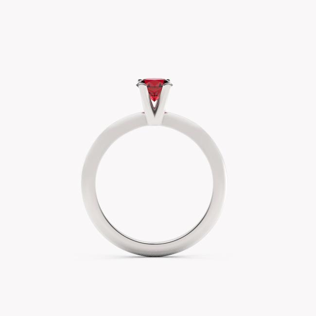 Pierścionek Sioni – białe złoto 585 / rubin
