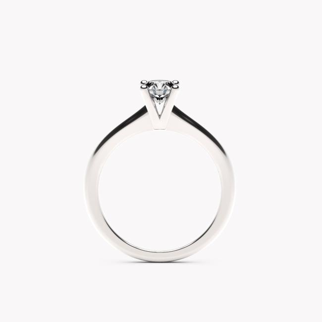 Pierścionek Soji – białe złoto 585 / brylant