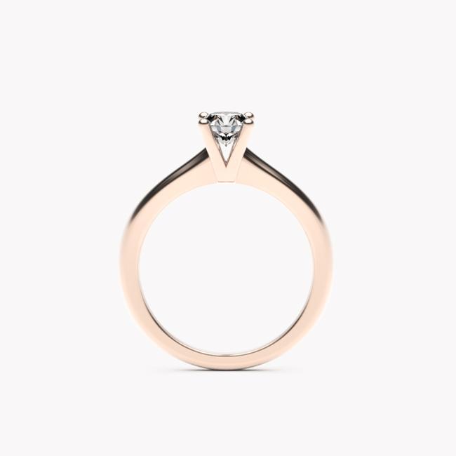 Pierścionek Soji – różowe złoto 585 / brylant