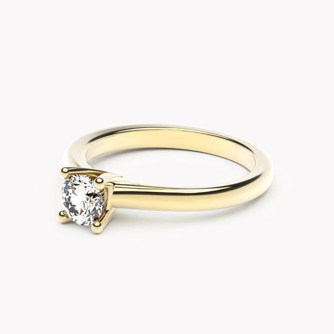 Pierścionek Soji – żółte złoto 585 / brylant