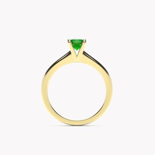 Pierścionek Soji – żółte złoto 585 / tsavoryt