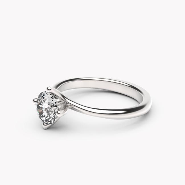Pierścionek Rosa – białe złoto 585 / biały topaz