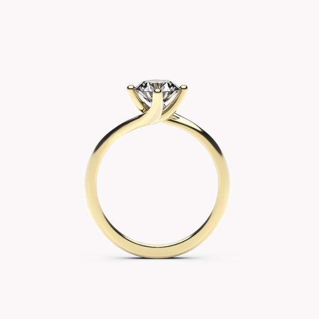 Rosa – żółte złoto 585 / szafir 1ct