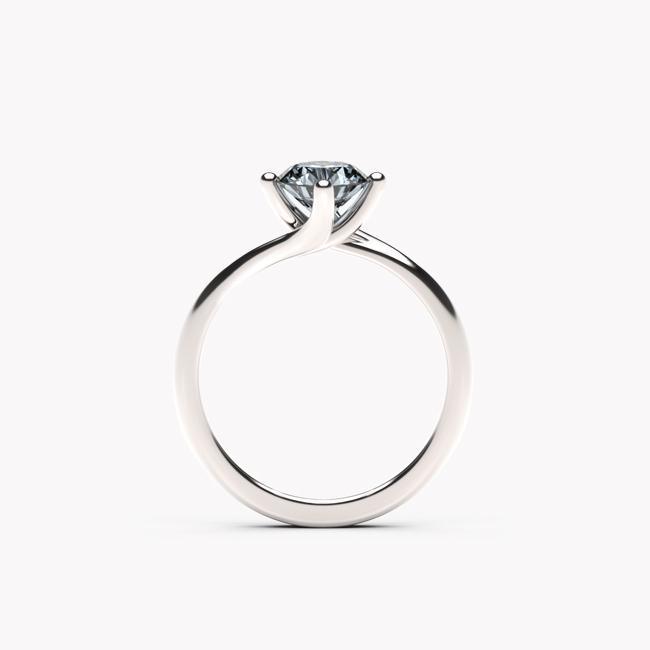 Rosa – białe złoto 585 / niebieski topaz