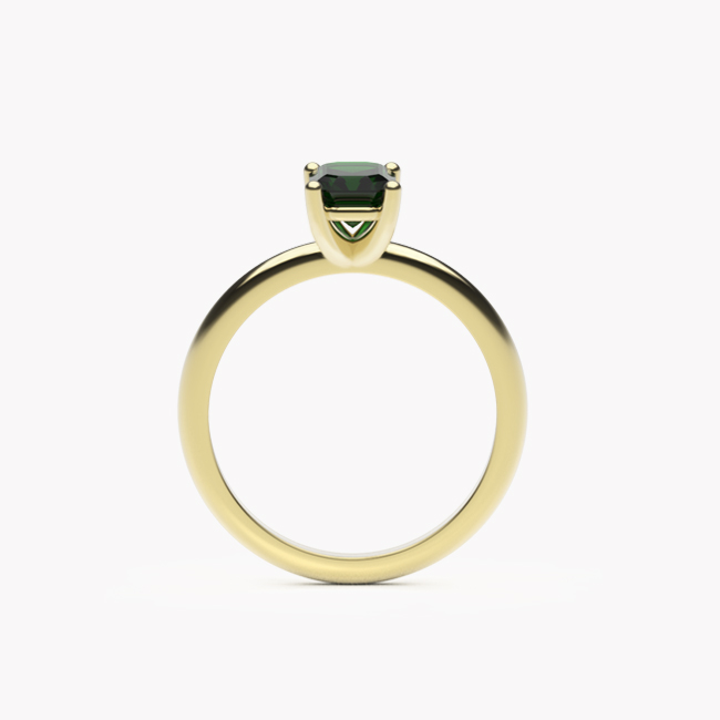 Pierścionek Vere – żółte złoto 585 / diopsyd