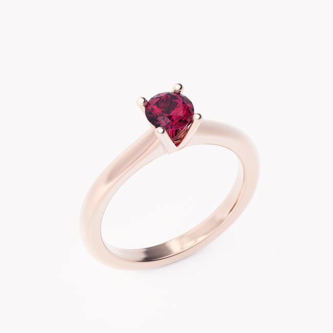 Soji - różowe złoto 585 / rubin