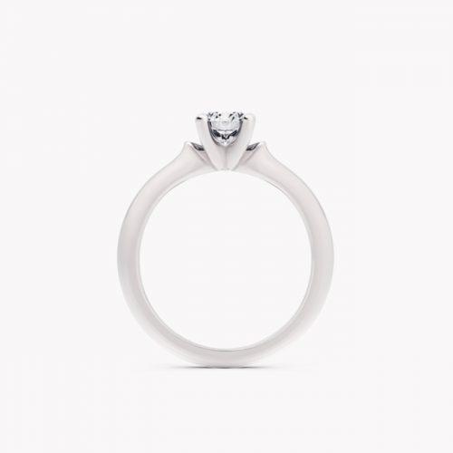 Pierścionek Ise – białe złoto 585 / brylant