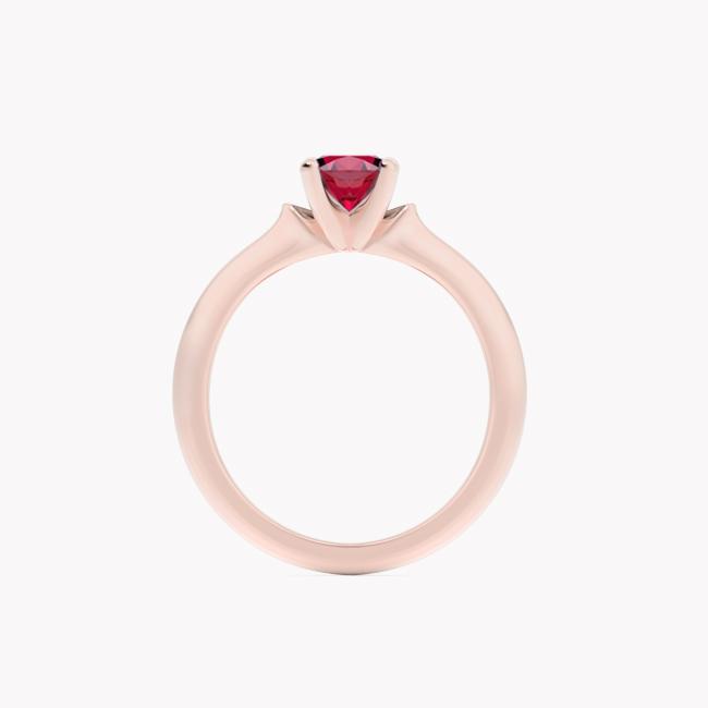 Ise – różowe złoto 585 / rubin