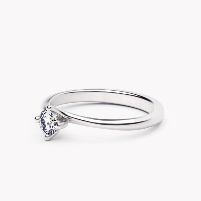 Pierścionek Rosa – białe złoto 585 / brylant 0.20ct