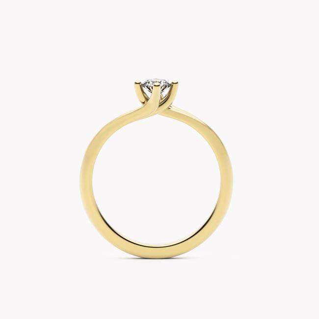 Rosa – żółte złoto 585 / brylant 0.20ct