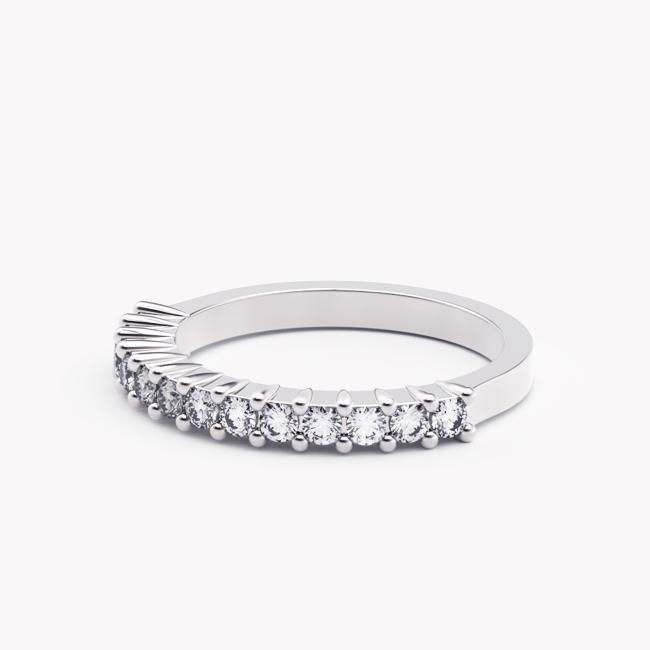 Pierścionek Ise – białe złoto 585 / brylanty
