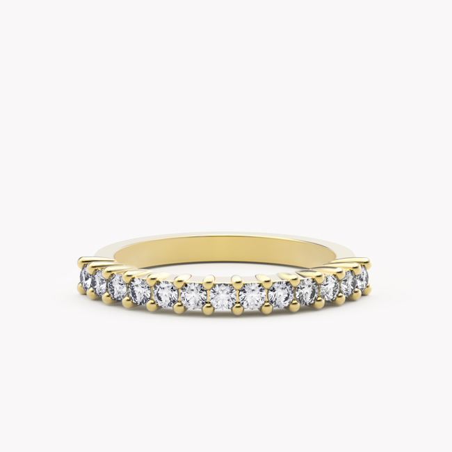 Pierścionek Ise – żółte złoto 585 / brylanty