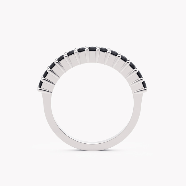 Pierścionek Ise – białe złoto 585 / czarne brylanty