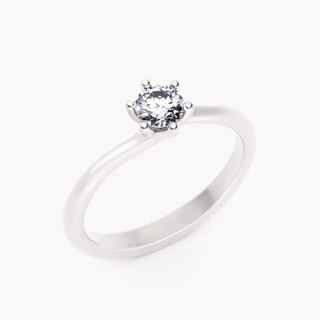 Pierścionek Rosa – białe złoto 585 / brylant 0.30ct