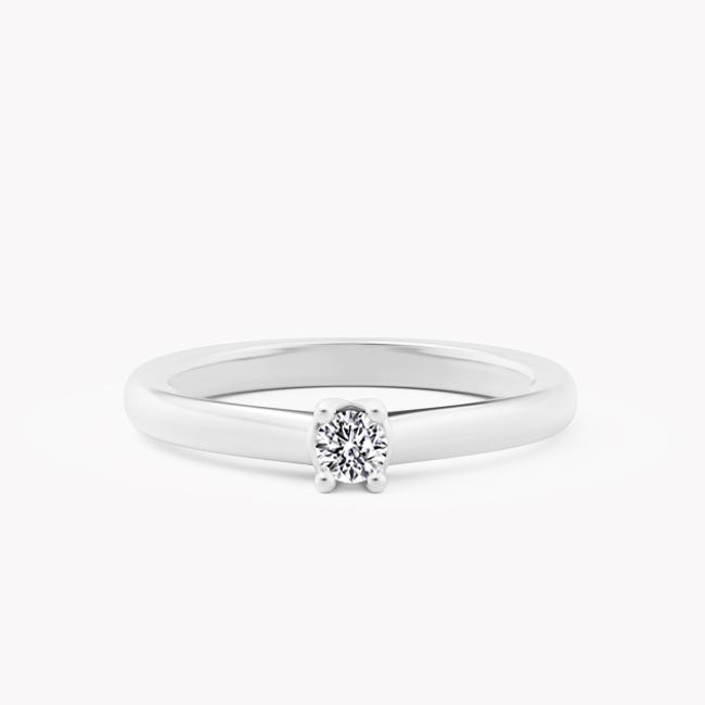 Pierścionek Soji – białe złoto 585 / brylant 0,10ct