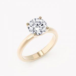 Pierścionek Classy – białe złoto 585 / brylant 0.20ct