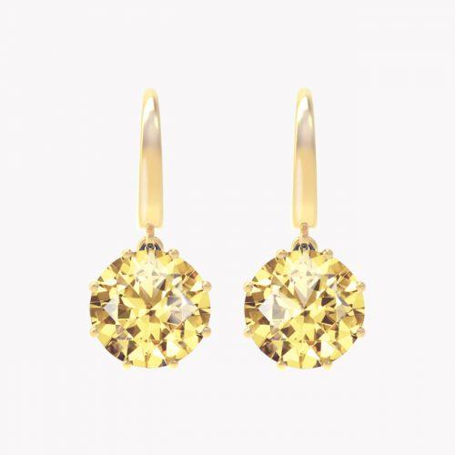 Elara - żółte złoto 585 / cytryny 6ct