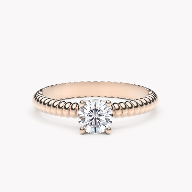 Leda – różowe złoto 585 / brylant 0.50ct