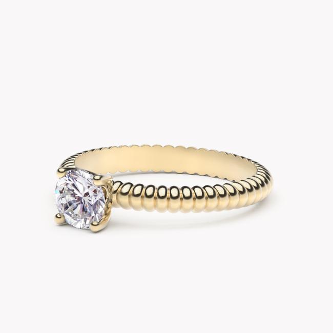 Leda – żółte złoto 585 / brylant 0.50ct
