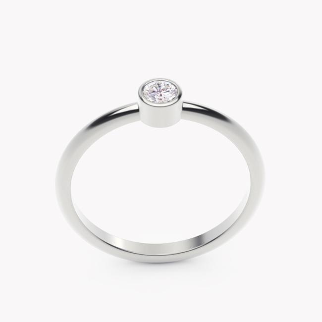 Rea – białe złoto 585 / brylant 0.10ct