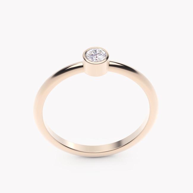 Rea – różowe złoto 585 / brylant 0.10ct