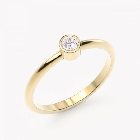Rea – żółte złoto 585 / brylant 0.10ct