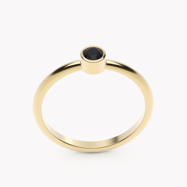 Rea – żółte złoto 585 / czarny brylant 0.15ct