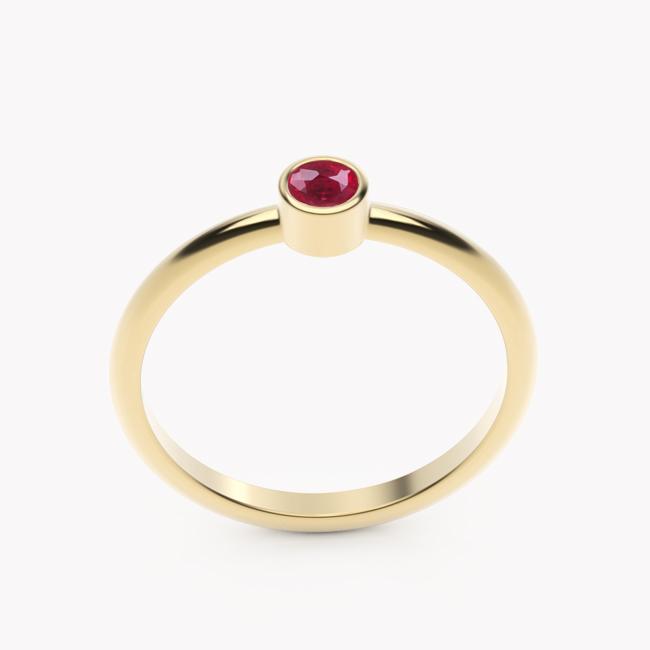 Rea – żółte złoto 585 / rubin 0.12ct